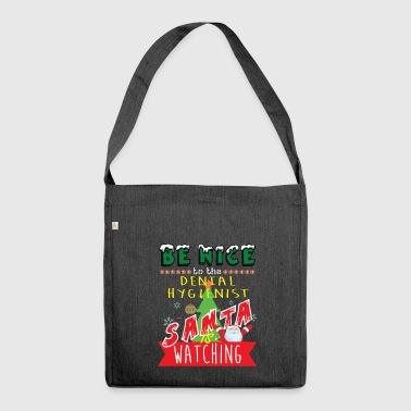 Dental Hygienist Christmas Gift Idea - Shoulder Bag made from recycled material