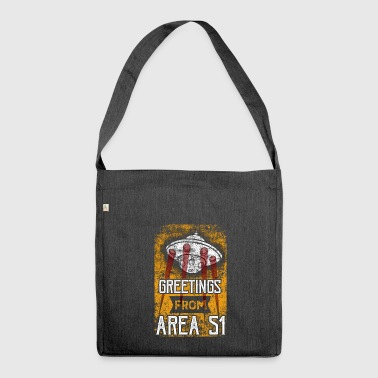 Greetings From Area 51 UFO - Shoulder Bag made from recycled material