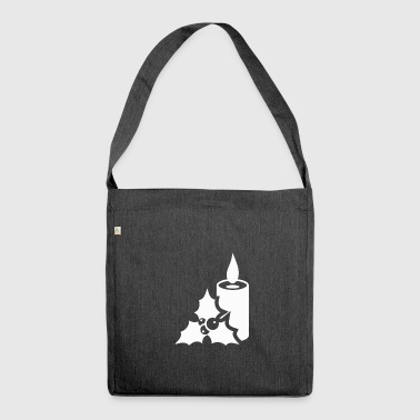 Advents Candles Mistletoe Calendar Christmas - Shoulder Bag made from recycled material