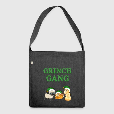 Grinch cat gear Christmas - Shoulder Bag made from recycled material