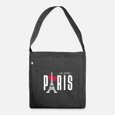 Je Suis Paris JE SUIS PARIS || I LOVE PARIS - Schultertasche aus Recycling-Material