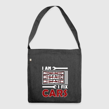 Mechanic Mechanic Fix Cars - Shoulder Bag made from recycled material
