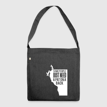 Funny saying - sarcasm - irony - Shoulder Bag made from recycled material