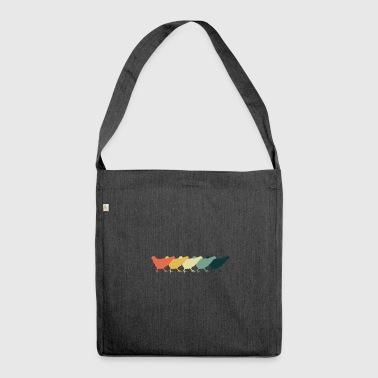 Chicken Parade gift for Farmers - Shoulder Bag made from recycled material