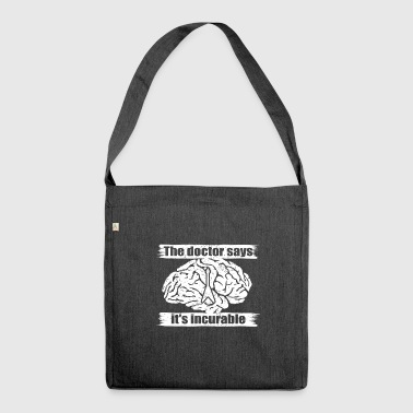 doctor incurable says bass guitar gong png - Shoulder Bag made from recycled material