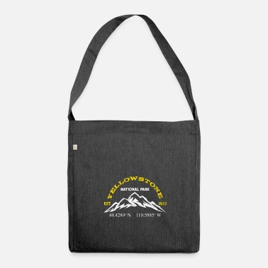 Longitude Yellowstone National Park 1872 Longitude Latitude - Shoulder Bag made from recycled material