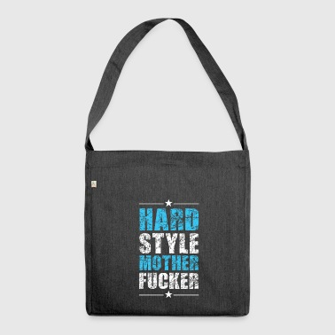 Provocative Hardstyle Tshirt - Shoulder Bag made from recycled material