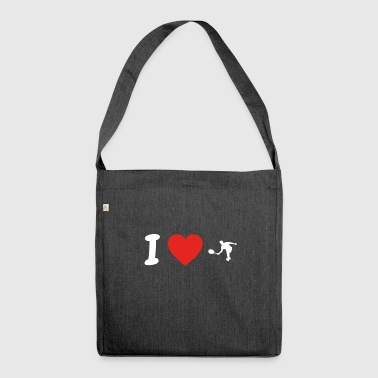 I love tennis tennis tennis player png - Shoulder Bag made from recycled material