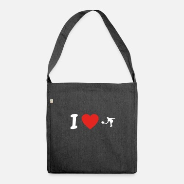 I Love Tennis I love tennis tennis tennis player png - Shoulder Bag made from recycled material