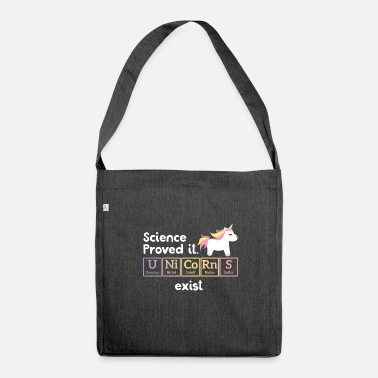 Periodic Table Funny Unicorn - Periodic Table - Gift - Shoulder Bag made from recycled material