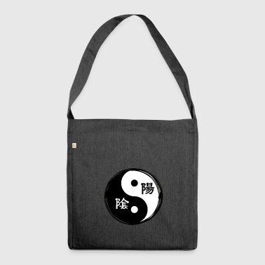 Chinese Symbols Yin Yang Chinese Calligraphy Chinese Symbol - Shoulder Bag made from recycled material