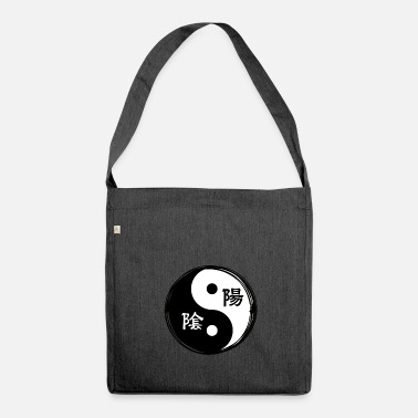Chinese Yin Yang Chinese Calligraphy Chinese Symbol - Shoulder Bag made from recycled material