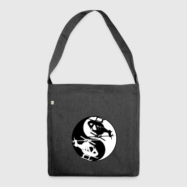 Yin And Yang Helicopter Cool Chinese Tai Chi - Shoulder Bag made from recycled material