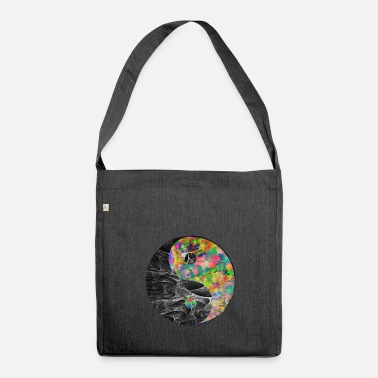 Psichedelico Tai Chi cinese psichedelico vintage Yin Yang - Borsa in materiale riciclato