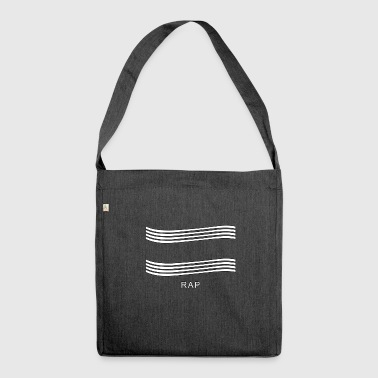 Rap shirt - Shoulder Bag made from recycled material