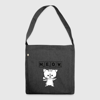 Scrabble Scrabble Cat Meow - Funny Nerd Cat Scrabble - Shoulder Bag made from recycled material