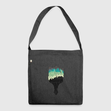 Brush gift skyline city silhouette painter - Shoulder Bag made from recycled material