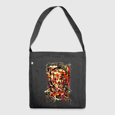 ink face - Shoulder Bag made from recycled material