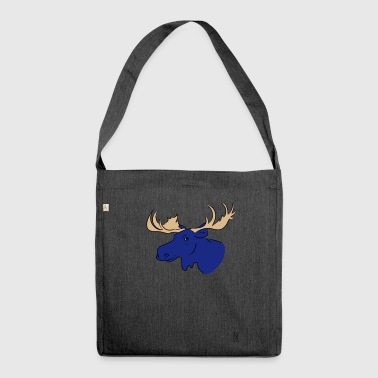 Alce blu - Borsa in materiale riciclato