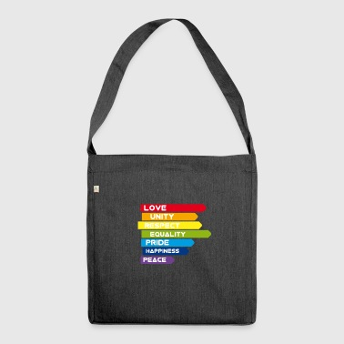Gay Love Unity Respect Pride Peace happiness csd l - Shoulder Bag made from recycled material