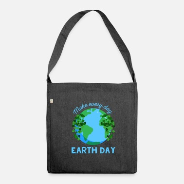 Planet Earth Day Gift - Axelväska av återvinningsmaterial