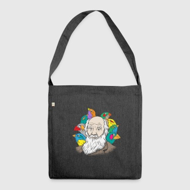 Charles Darwin Portrait Gift Evolution - Shoulder Bag made from recycled material