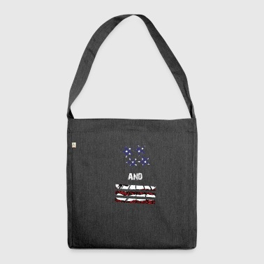 Stars and Stripes - Schultertasche aus Recycling-Material