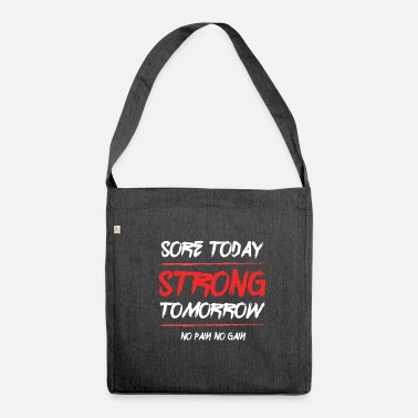 No Pain No Gain No Pain No Gain - Borsa in materiale riciclato