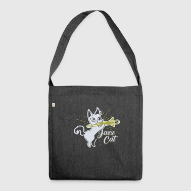 Regalo per la maglietta di Jazz Cat Musician - Borsa in materiale riciclato