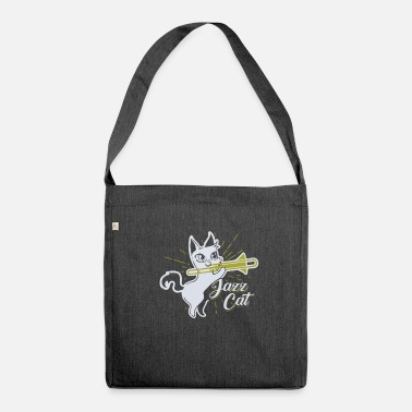 Jazz Regalo per la maglietta di Jazz Cat Musician - Borsa in materiale riciclato