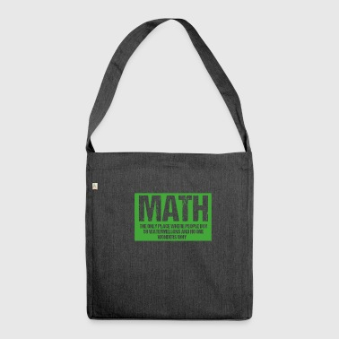 Math - Shoulder Bag made from recycled material