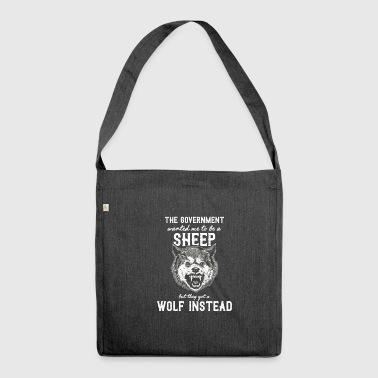 The government wanted a sheep - Shoulder Bag made from recycled material
