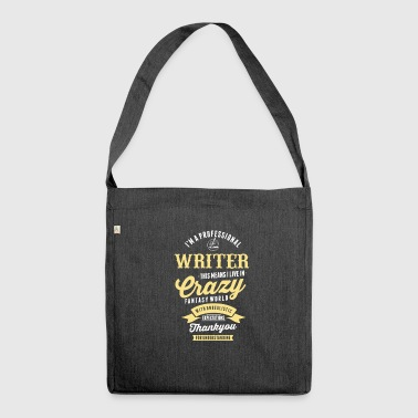 Writer Author writer writing book text gift - Shoulder Bag made from recycled material