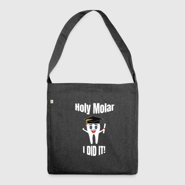 Funny Dental Hygienist Graduation Design - Shoulder Bag made from recycled material