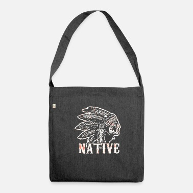 American Native American Native History USA - Shoulder Bag made from recycled material