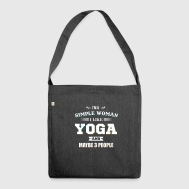 Yoga Happy Meditation Hatha Tantra Training - Shoulder Bag made from recycled material