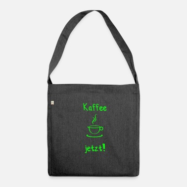 Kaffee Kaffee Kaffee Kaffee Kaffee Kaffee Cafe Coffee - Schultertasche aus Recycling-Material