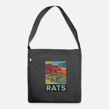 Rat rats - Shoulder Bag made from recycled material