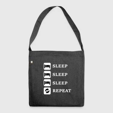 Sleep, Sleep, Sleep, Repeat - Shoulder Bag made from recycled material