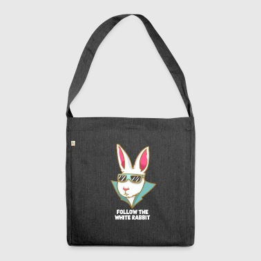 Cool white rabbit - Shoulder Bag made from recycled material