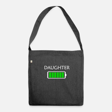 daughter battery full power daughter t-shirt - Shoulder Bag made from recycled material