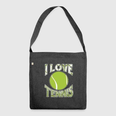 I Love Tennis - Shoulder Bag made from recycled material