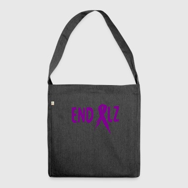 Awareness-ribbon Alzheimer's END ALZ Awareness Ribbon - Shoulder Bag made from recycled material