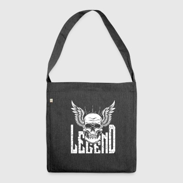 Skull Skull Skull Wings Gift - Borsa in materiale riciclato