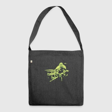 Cyclist cycling cycling cycling gift - Shoulder Bag made from recycled material