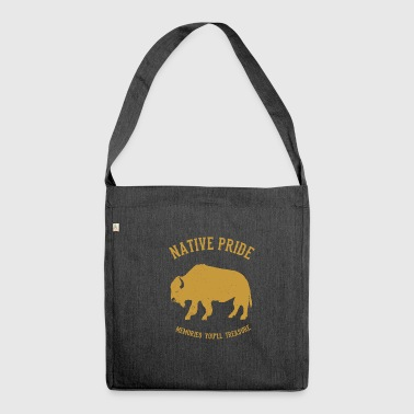 Native Americans Native American bison - Shoulder Bag made from recycled material