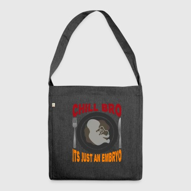 Black humor provocative - Shoulder Bag made from recycled material