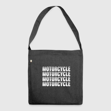 motorcycle motorcycle motorcycle motorcycle - Shoulder Bag made from recycled material