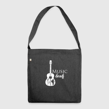 Music heals - Shoulder Bag made from recycled material