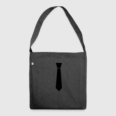 Necktie - stag party - Shoulder Bag made from recycled material
